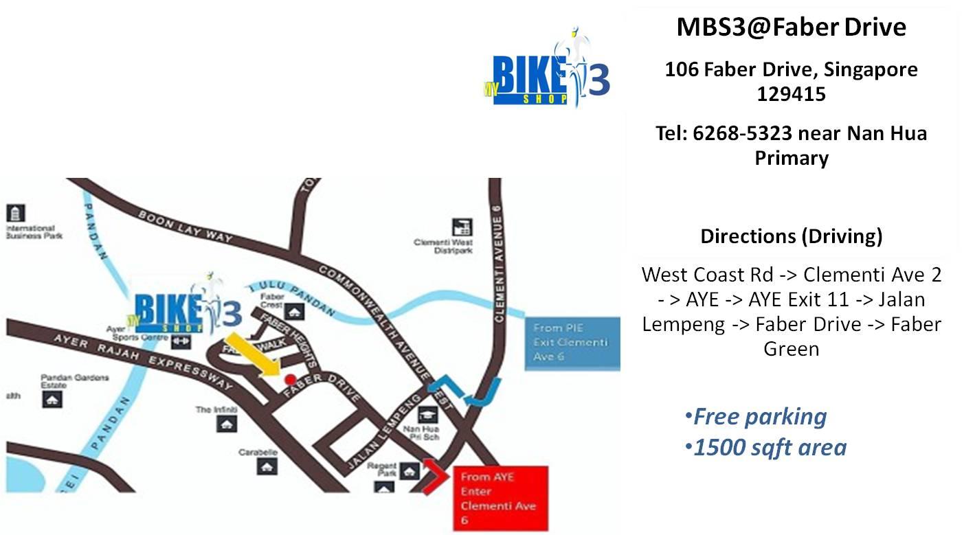 MBS3 map   My Bike Shop Singapore Map My Bike on