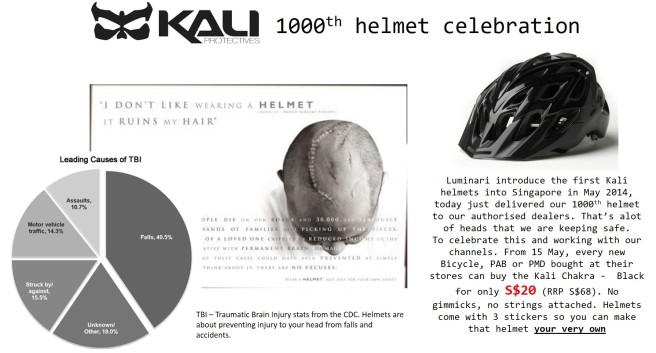 Kali 1000th helmet final