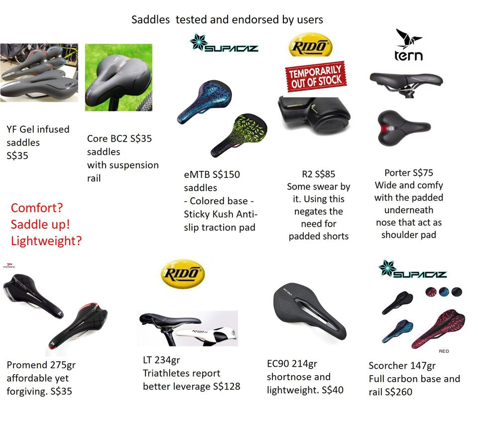 Accessories - saddle rido OOS